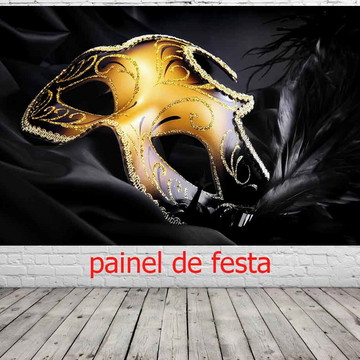 painel de festa mascara de carnaval
