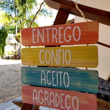 Placa Decorativa ENTREGO CONFIO