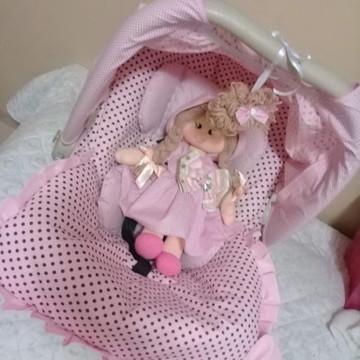Capa para bebê conforto + Boneca de pano