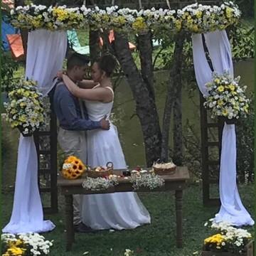 Cerimonia de Casamento em Sítio rústico - Locação