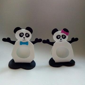 Porta bombom dos Ursinhos Panda de EVA