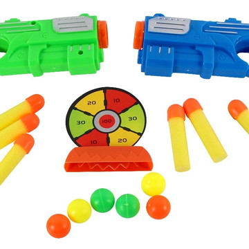 Arma Brinquedo Pistola Lançador Nerf Kit 2 Armas