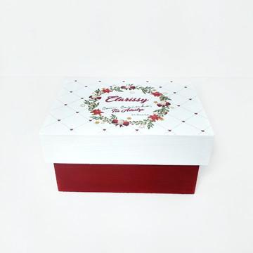 Caixa MDF Personalizada vermelha