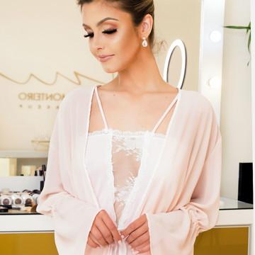 Robe para Lua de Mel - com Camisola Noiva Glamour