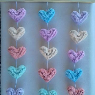 Mobile de parede corações