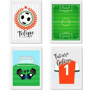 Quadro Infantil Bebe Menino Futebol