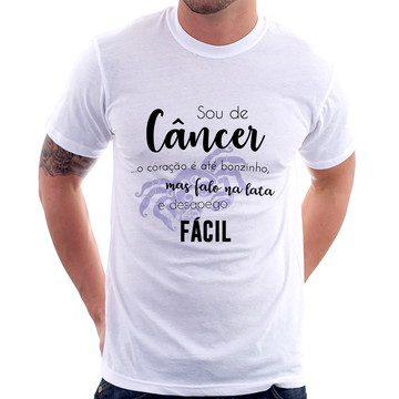 Camiseta Sou de Câncer