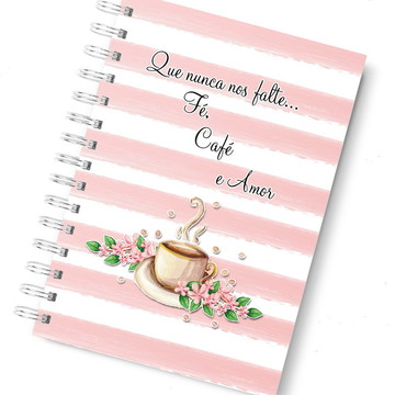 Agenda planner café rosa
