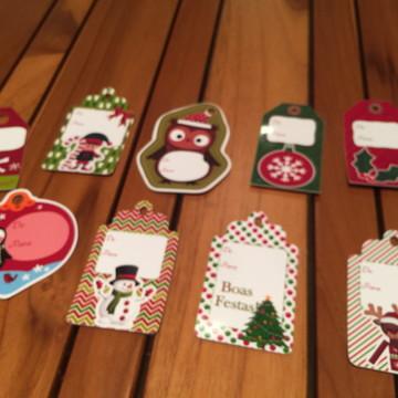 Etiqueta para presentes de Natal