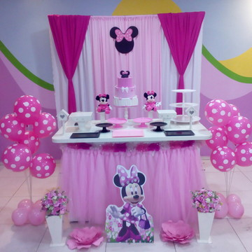 Decoração Minnie rosa