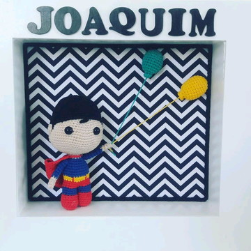 Porta Maternidade Amigurumi Super Herói Cute Store Crochet