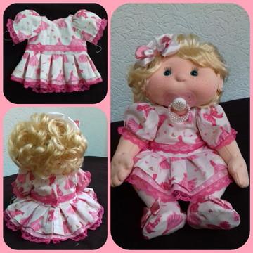 Boneca de Pano Bebê Articulada Me Leva Contigo!