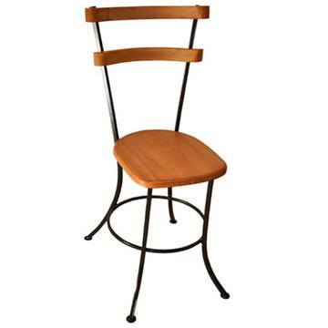 Cadeira Rústica Em Ferro e Madeira
