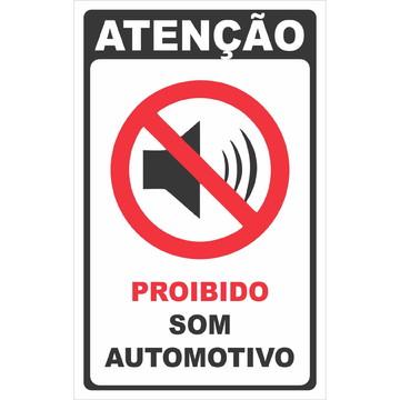 Adesivo Proibido Som Automotivo 20x13cm a130