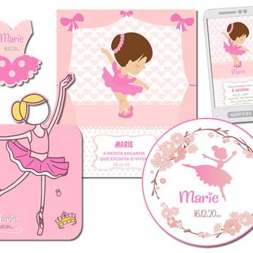 Kit de Aniversário Infantil Bailarina Artes