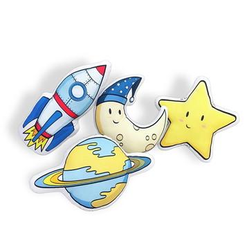 Almofada Infantil Espacial - Foguete