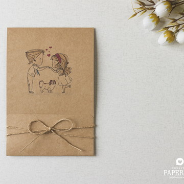Convite de Casamento Divertido Priscila