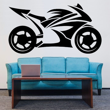 Adesivo de Parede - Moto Corrida