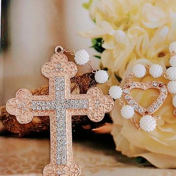Terço pra noiva Dourado