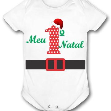 Body bebê personalizado meu primeiro natal roupinha natal