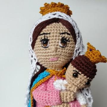 Nossa Senhora do Rosário - Amigurumi