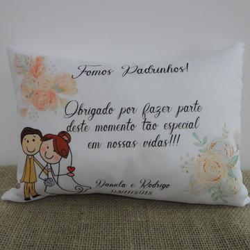 Almofada Casamento Lembrancinhas Padrinhos Boho