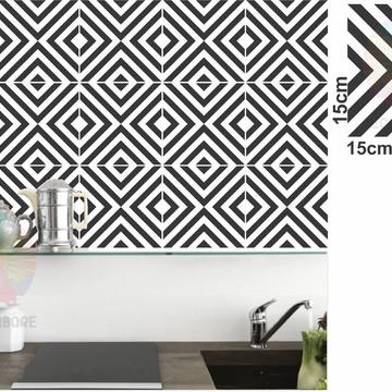 Adesivos Geométrico preto p/ paredes,decorações, azulejos...