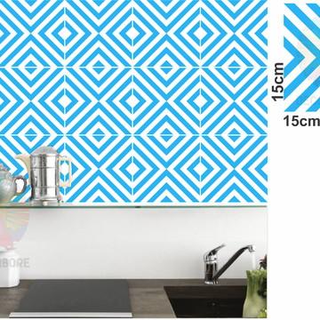 Adesivos Geométrico Azul Celeste - decorações, azulejos...