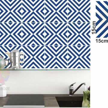 Adesivos Geométrico Azul Noturno - decorações, azulejos...