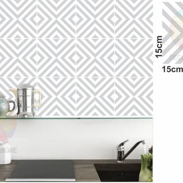 Adesivos Geométrico Cinza Claro - decorações, azulejos...