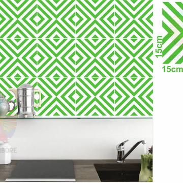 Adesivos Geométrico verde limão - decorações, azulejos...