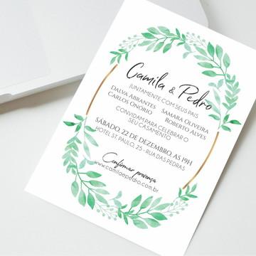 Convite Digital Casamento Minimalista