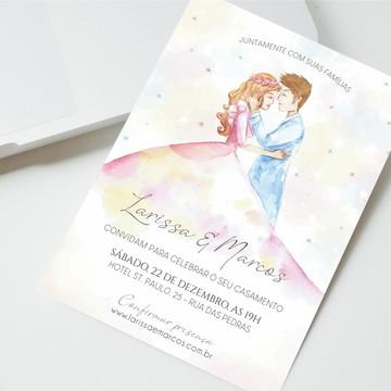 Convite Digital Casamento Casal