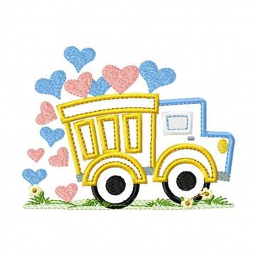 Matriz Bordado Caminhão de Amor Agulha Feliz Matrizes