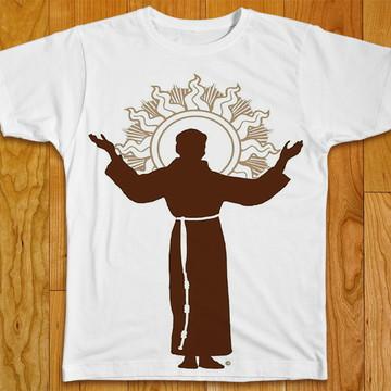 Camiseta Religiosa Monge Franciscano