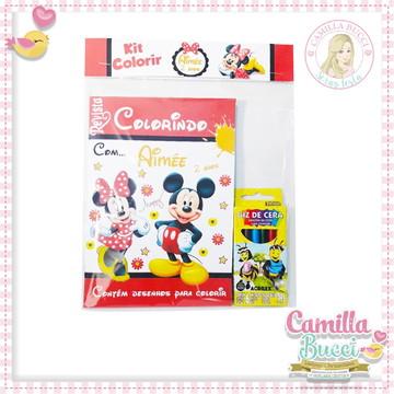 Kit Colorir Mickey e Minnie