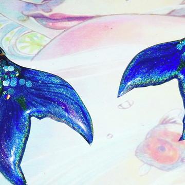 brincos mermaid