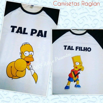 Camisetas Raglan tal pai, tal filho
