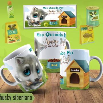 Caneca Personalizada Husky Siberiano