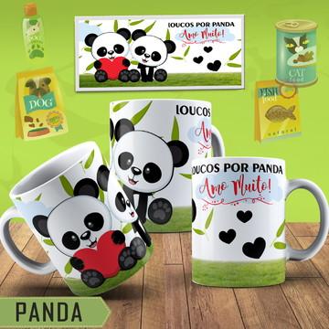 Caneca Personalizada Casal Panda Cute
