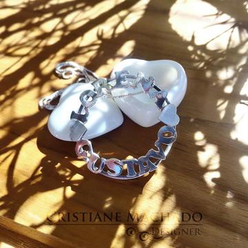 Colar Mandala Nome - Prata 950