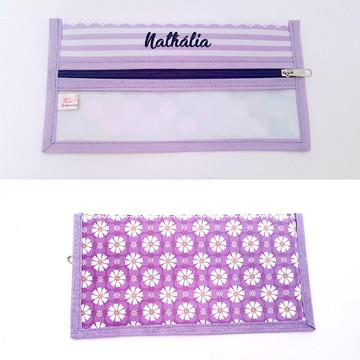 Kit Necessaire e toalha de mão Flores