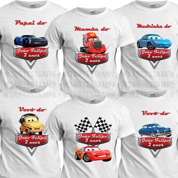 7 Camisetas Carros Disney Aniversário