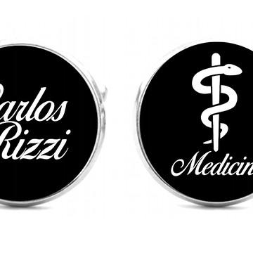 Abotoadura para camisa social personaliza formandos Medicina