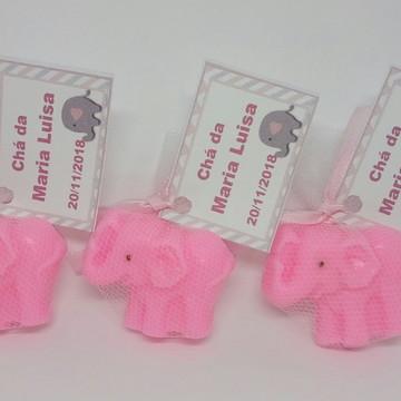 Lembrancinha chá de bebê elefantinho chevron