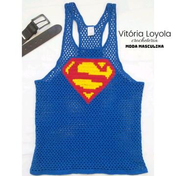 201fc1f4c1 Regata Cavada Masculina Superman