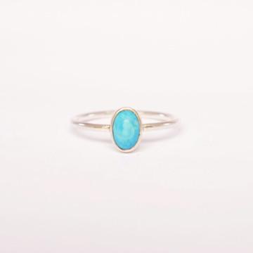 Anel de prata pedra turquesa