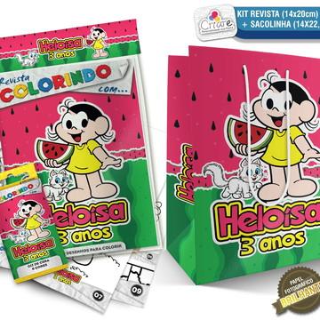 Sacolinha + Kit de colorir PERSONALIZADO - Magali