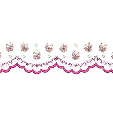 Matriz de bordado - Barrado de borboletas 001