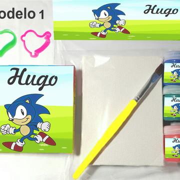 Kit massinha e pintura-Sonic